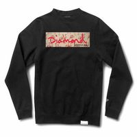 bluza DIAMOND - Flamingo Box Logo Crewneck Black (BLK)