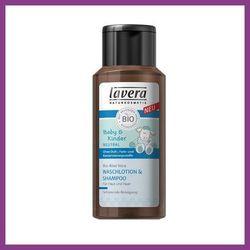 LAVERA Płyn pod prysznic i do włosów dla dzieci i niemowląt z bio-olejem z wiesiołka i bio-aloesem