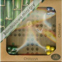 Bambusowe mini gry Chińczyk
