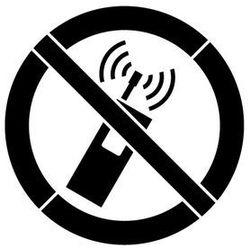 Szablon malarski z tworzywa Znak zakazu używania tel. komórkowych 85x85 cm