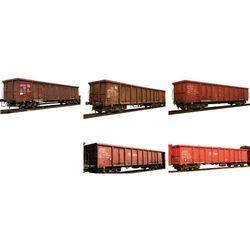 Wagon towarowy Minitrix T15993, wysokościenny EANOS, transport złomu z DB AG, skala N