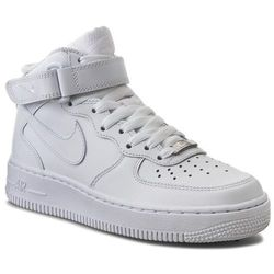 Buty NIKE - Air Force 1 Mid '07 LE 366731 100 White/White