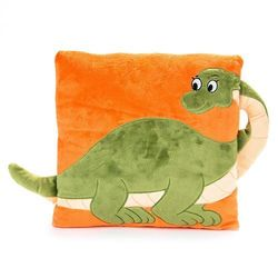 BO-MA Trading Poduszka z uchem dinozaur, 33 x 33 cm