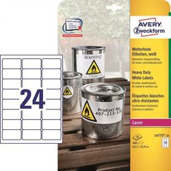 Etykiety ochronne Avery Zweckform Heavy Duty L4773, 63,5x33,9mm