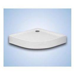 Brodzik zaokrąglony Hüppe Xerano 80 x 80 x 6 cm, biały, zintegrowana obudowa 840202055