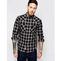 Lee Shirt Slim Fit Western Check Black - Black