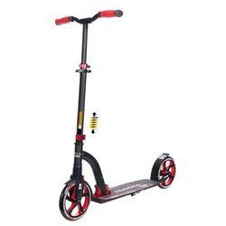 Hulajnoga Hudora Big Wheel Flex 200 z pełną amortyzacją - czerwona