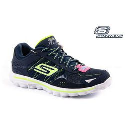 BUTY SPORTOWE SKECHERS GO WALK NA WEEKAND - NAVY/LIME