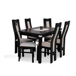 ZESTAW EDYP 6 krzeseł i stół 80x120/150cm LAMINAT / TANIO
