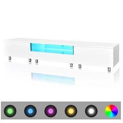 Stojak na telewizor, biały, LED, 200 cm Zapisz się do naszego Newslettera i odbierz voucher 20 PLN na zakupy w VidaXL!