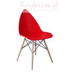 Krzesło Rush Wood czerwone