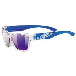Okulary rowerowe Sportstyle 508 Clear/Blue Niebieski/Przezroczysty Mirror Blue