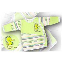 Kaftanik niemowlęcy zapinany z boku Aqua 68 zielony