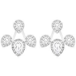 Swarovski Christie Pierced Earring Jackets White Rhodium-plated