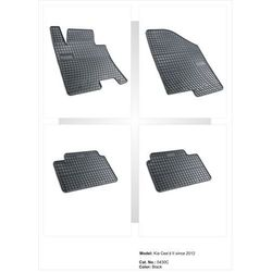 Dywaniki gumowe czarne z kompletem stoperów - Kia Ceed (II) od 2012