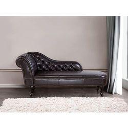 Sofa brazowa - skóra ekologiczna - kanapa – szezlong – chesterfield – NIMES
