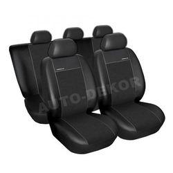 Skórzane pokrowce samochodowe miarowe PREMIUM CZARNE Renault Scenic (II) 2003-2009 r.