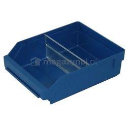 Pojemnik plastikowy warsztatowy z przekładkami. Wym: 300x240x95mm