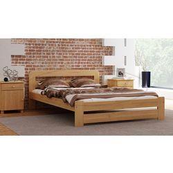 Łóżko drewniane Lidia 120x200 z materacem kieszeniowym