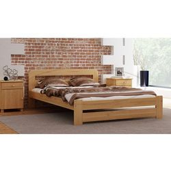 Łóżko drewniane Lidia 140x200 z materacem kieszeniowym