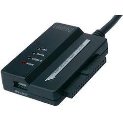 Przejściówka, adapter Digitus USB 3.0, wtyk USB A <=> SATA/IDE, czarna