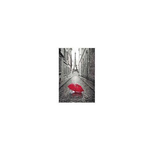 Paryż Wieża Eiffla Czerwona Parasolka Plakat Porównaj
