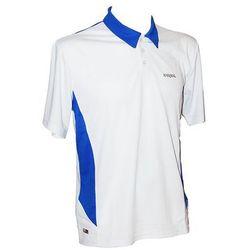 Karakal Leon Button Polo Biało-niebieska
