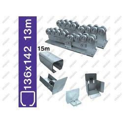 Zestaw do bram przesuwnych Zn, 136x142mm