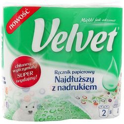VELVET 2szt Najdłuższy z nadrukiem ręcznik papierowy