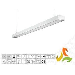 Oprawa oświetleniowa LANKA 2x28W liniowa, aluminium T5 podwieszana