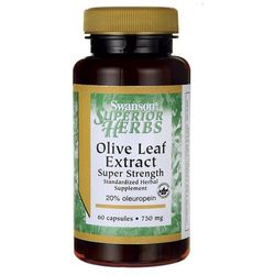 Swanson Olive Leaf - Liść Oliwny 750mg 60 kaps.