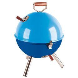 Grill okrągły niebieski Mini BBQ CO-672058 (śr. 30 cm)