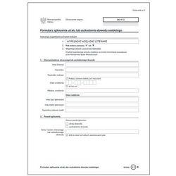 Formularz zgłoszenia utraty lub uszkodzenia dowodu osobistego [Do/F/2] - NOWY WZÓR 2015