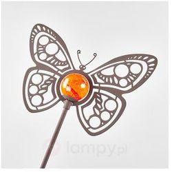 Piękna lampa solarna LED Motyl jako dekoracja