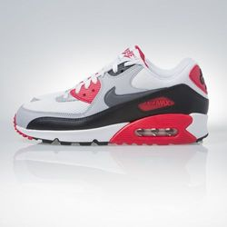 Sneakers buty Nike Air Max 90 Essential white / dark grey (537384-160)