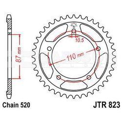 Zębatka tylna stalowa JT R823-46, 46Z, rozmiar 520 2302409 Suzuki GS 500