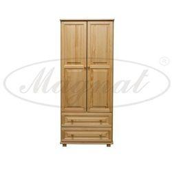 Szafa drewniana 2D nr4 wieszak/półki S80