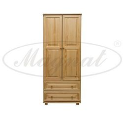 Szafa drewniana 2D nr4 wieszak/półki S90