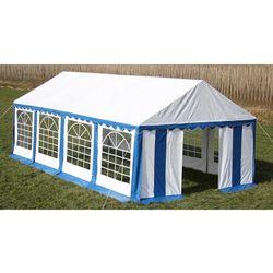 vidaXL Pawilon ogrodowy 8x4m (dach+penele boczne), niebiesko-biały Darmowa wysyłka i zwroty