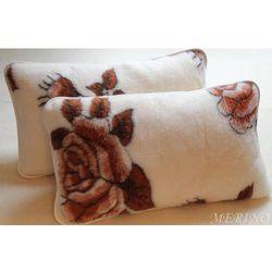 Poduszka z wełny merynosa 40x45 - Róża brąz