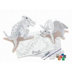 4M, papierowe modele do składania i malowania Świat dinozaurów