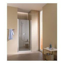 Drzwi wahadłowe 1 skrzydłowe Kermi Cada XS prawe, profil srebrny połysk, CadaClean CC1WR09520VPK