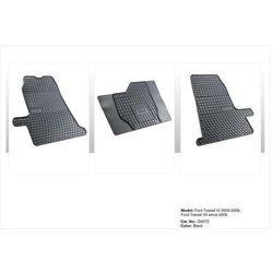 Dywaniki gumowe czarne z kompletem stoperów - FORD Transit (VI) 2006-2012