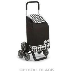 Torba na zakupy z kółkami Tris Optical czarna,