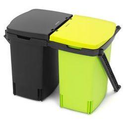 Kosz do segregowania odpadów montowany w szafce podwójny 2 x 10 l