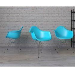 Krzesło P018 PP ocean blue, chrom nogi - ocean blue
