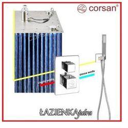 CORSAN Zestaw podtynkowy z termostatem, chrom CM-01T_40LED