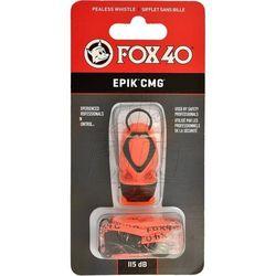 Gwizdek Fox40 EPIK CMG + sznurek pomarańczowy 8803-0308