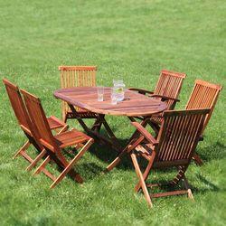 Meble Ogrodowe CALABRIA Zestaw mebli Stół + Fotele + Krzesła