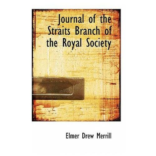 Journal of the Straits Branch of the Royal Society